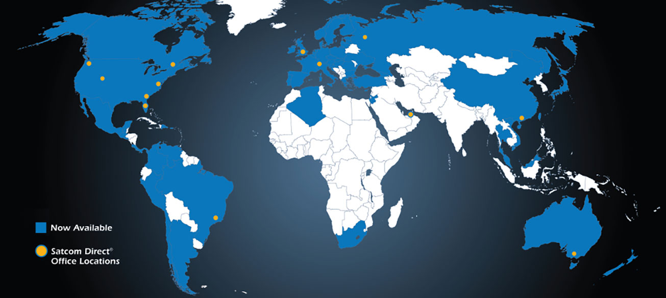 Global One Number availability map