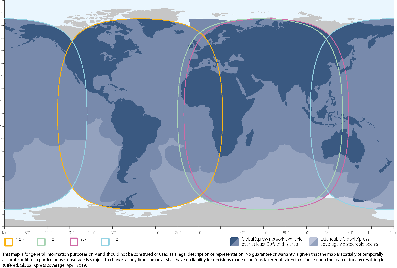 Jet ConneX coverage map